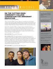 ON THE CUTTING EDGE COMMUNITY COLLEGE CONSORTIUM FOR IMMIGRANT EDUCATION