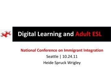 Digital Learning and Adult ESL