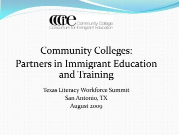 Community Colleges Partners in Immigrant Education and Training