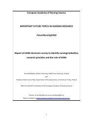 European Academy of Nursing Science IMPORTANT FUTURE ...