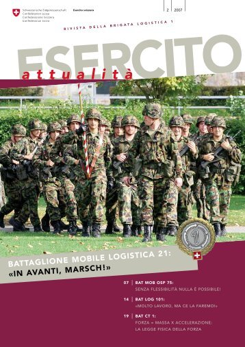 a t t u a l i t à - Logistikbasis der Armee LBA - admin.ch