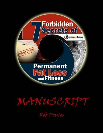 7 Forbidden Secrets Of Permanent Fat Loss And Fitness