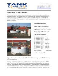 Mesabi Nugget by Tank Connection Project Specifications