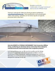 aluminum domes.com - Tank Connection
