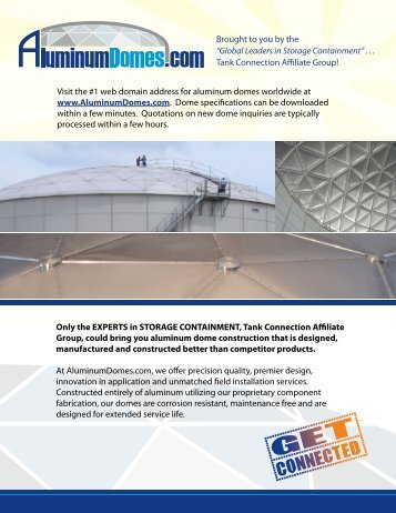 aluminum domes.com - Tank Connection