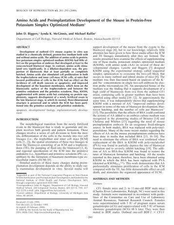 Amino Acids and Preimplantation Development of the Mouse in ...