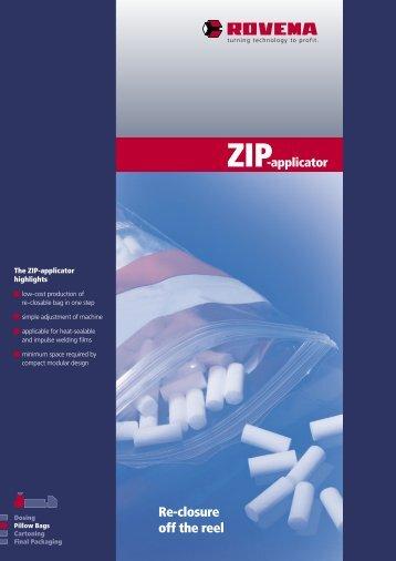 ZIP-applicator