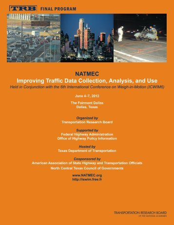 NATMEC Improving Traffic Data Collection, Analysis, and Use
