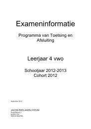 VWO 4 2012-2013 - Jacob-Roelandslyceum