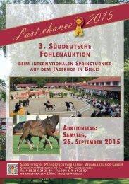 Auktionskatalog Last Chance Biblis 2015
