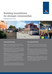 Building foundations for stronger communities