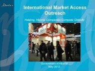 International Market Access Outreach