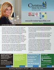 eNewsletter Fall 2012 - Christine Hauschild