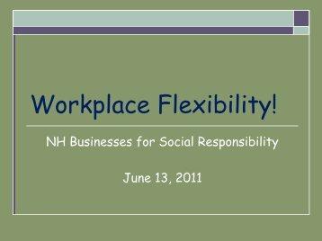 Workplace Flexibility!