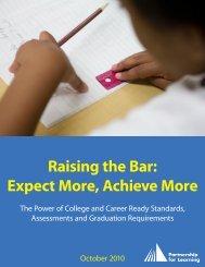 Raising the Bar Expect More Achieve More