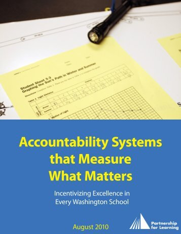 Accountability Systems that Measure What Matters