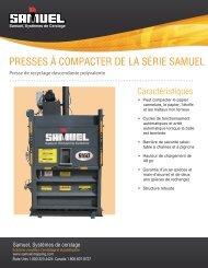 PRESSES À COMPACTER DE LA SÉRIE SAMUEL