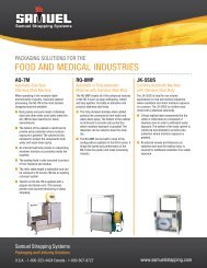 FOOD AND MEDICAL INDUSTRIES