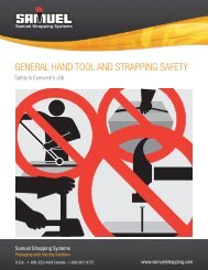 GENERAL HAND TOOL AND STRAPPING SAFETY