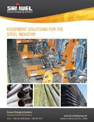 EQUIPMENT SOLUTIONS FOR THE STEEL INDUSTRY