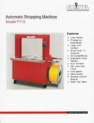 Automatic Strapping Machine - Samuel Strapping Systems