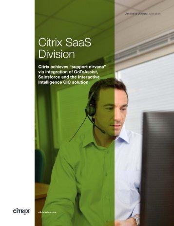 Citrix SaaS Division