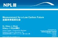 Measurement for a Low Carbon Future 测 量 未 来 低 碳 社 会