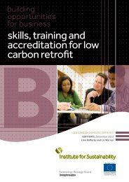 skills training and accreditation for low carbon retrofit