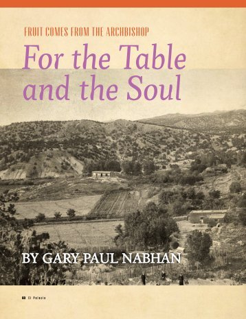 For the Table and the Soul