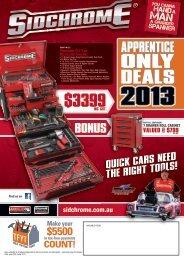 sidchrome apprentice program 2013 - Warby Tools