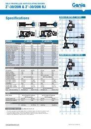 Z -30/20N & Z -30/20N RJ Specifications