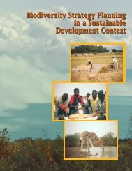 Biodiversity Strategy Planning in a Sustainable Development Context