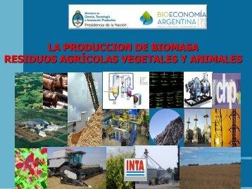 LA PRODUCCION DE BIOMASA RESIDUOS AGRÍCOLAS VEGETALES Y ANIMALES