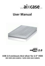AIX-XUB2S - USB 2.0 enclosure Aluminium for 2.5
