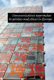 communicative approaches to politics and ethics in europe