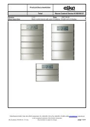 Documentation Room control panel K15S1B137 - ELKA-Elektronik ...
