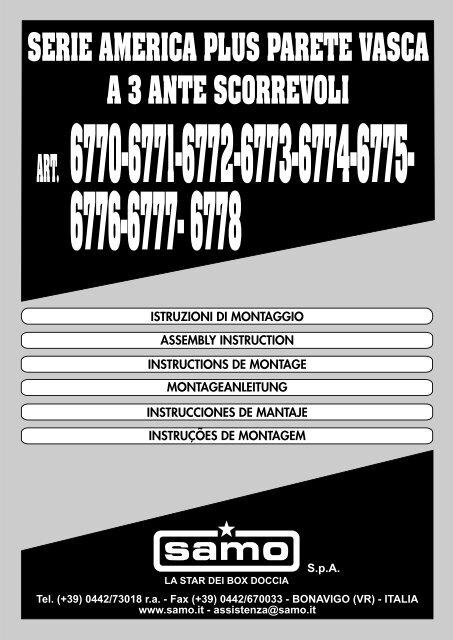 Istruzioni Montaggio Box Doccia Samo.Istruzioni Di Montaggio Samo