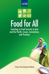 Food for All: Investing in Food Security in Asia and the Pacific ...