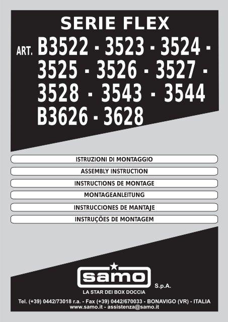Box Doccia Samo Flex.3528 3543 3544 B3626 3628