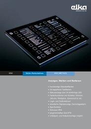 KNX Melde-/Bedientableau MBT2424 - ELKA-Elektronik GmbH