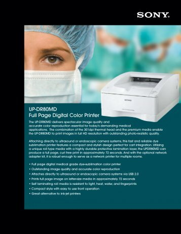 UP-DR80MD Full Page Digital Color Printer - Sony