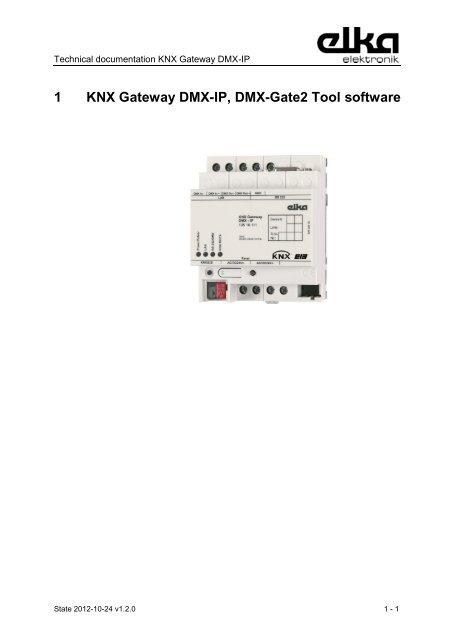 4 KNX Gateway DMX-IP 4 1 Operation modes