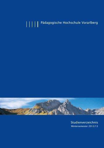 Studienverzeichnis Wintersemester 2012/13 [pdf] - Pädagogische ...