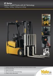 VT Series Electric Forklift Trucks with AC Technology
