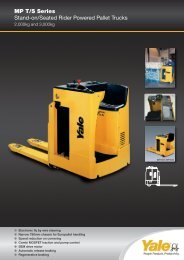 MP T/S Series Stand-on/Seated Rider Powered Pallet Trucks