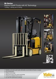 VA Series Electric Forklift Trucks with AC Technology