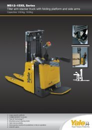 MS12-15XIL Series Tiller arm stacker truck with folding platform and side arms