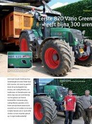 Eerste 820 Vario Greent heeft bijna 300 uren