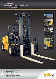 VX Series Diesel and LP Gas Forklift Trucks