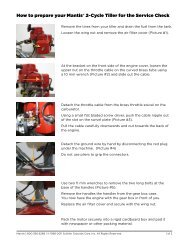 How to prepare your Mantis® 2-Cycle Tiller for the Service Check